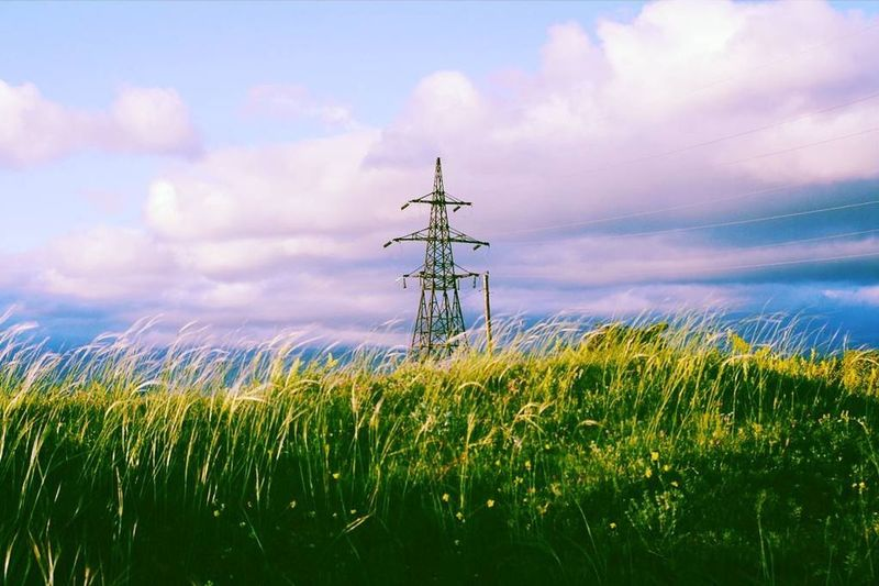 Cloud - Sky Sky Technology Field Electricity  Antenna - Aerial Outdoors Tranquility Day Electricity Pylon No People Nature Scenics Landscape Agriculture Rural Scene Wind Power A New Perspective On Life Capture Tomorrow