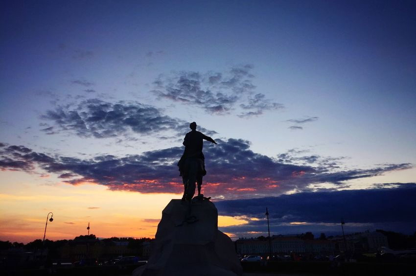 The statue of Peter in St Petersburg on a white night abt 2220hrs Cityscapes Rus2015tc Traveling