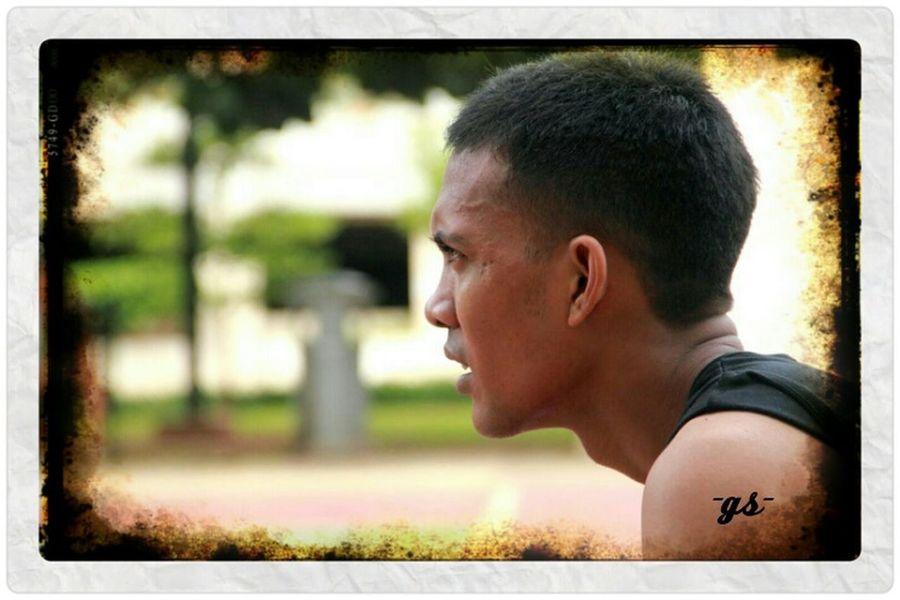 "Team__(11) ""Strong Gaze"" my friend: Nuel Basketball Portrait Enjoying Life"
