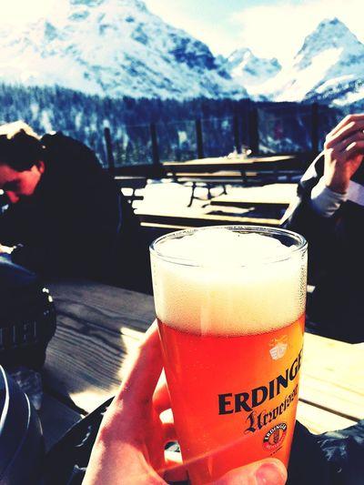 Beer Winter Skiing Mountains Alpen Zugspitze