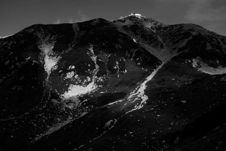 Mountain Nature Sky Outdoors No People Landscape Beauty In Nature Blackandwhite Light And Shadow Monochrome EyeEm Nature Lover EyeEm Best Shots From My Point Of View 雄山 in Toyama, Japan