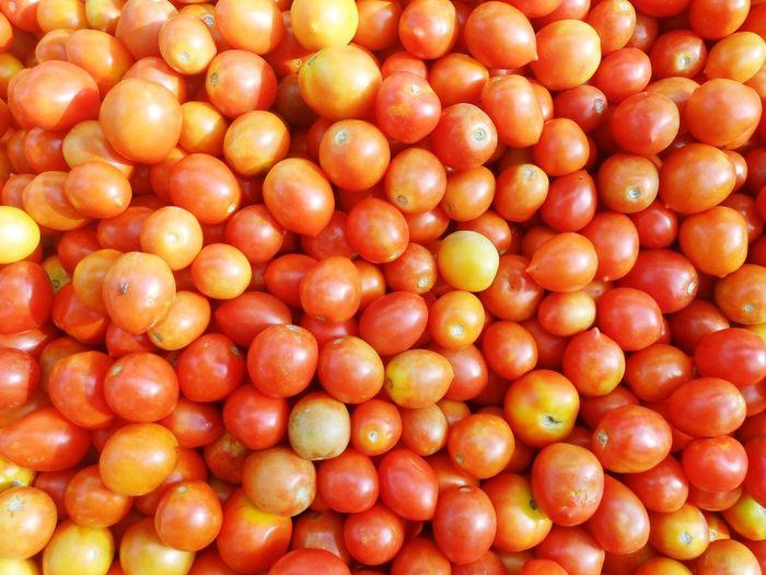 Full frame shot of tomatoes at market stall