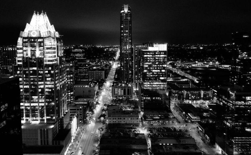 Austin Austin City Cityscape Illuminated Skyscraper Architecture Building Exterior Sky Built Structure The Architect - 2018 EyeEm Awards HUAWEI Photo Award: After Dark