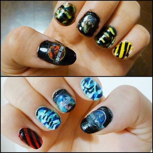 🆕 Nailtutorial : Jurassicpark & Jurassicworld Nails at my blog (link in the bio) ✌💻🌏🆒 Tumblrnails Nails Nailart  Nailinspiration Cool Geek Geeknails Coolnails Naildesign Tumblrgirl Jurassicparknails Movienails Nailpolish Nailswag Nailstagram Nailporn Nails2inspire Nailsoftheday Diseñodeuñas Uñas Tutorialduñas uñasdecoradas uñasconestilo uñastumblr pinterestnails pinterestnailart bloggermexicana