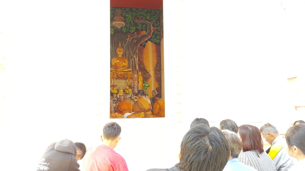 Priest Culture Real People Ordain Community People Temple Monastery
