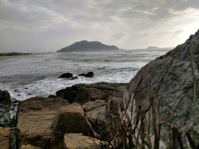 EyeEm Selects Frio. Cold. Frio Sea Beach Rock - Object Nature Travel Destinations Landscape No People Horizon Over Water Mountain Sul Brasil ♥ South Florianópolis Nature Vacations Cold Days Frio Connected By Travel