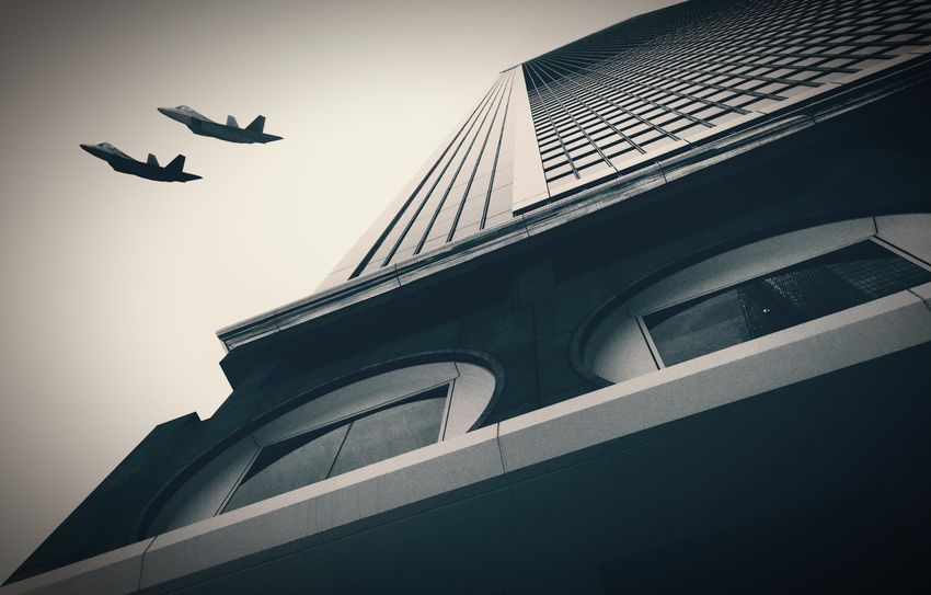 Air Force Black And White Black And White Photography Bw_lover Bw_collection Skyscraper Arquitecture_bw The Best Angles In Arquitecture EE Flying Architecture Built Structure Building Exterior