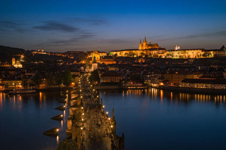 panoramic view on the charles bridge, Prague Charles Bridge Czech Republic Europe Trip Historical Monuments Panorama Prague Sunset_collection Travel Photography Architecture Building Building Exterior Built Structure City Cityscape Nature Panoramic Photography Prag River Sky Sunset Travel Travel Destinations Water