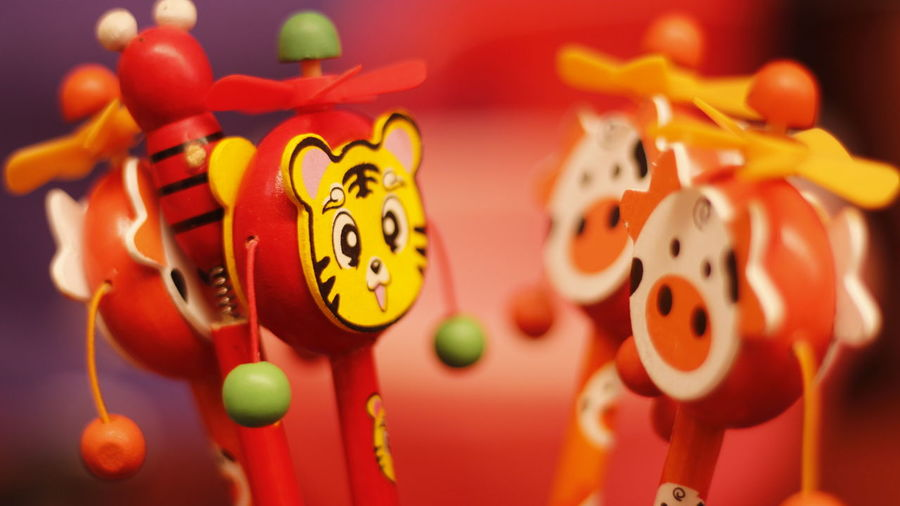 Close-up of toy