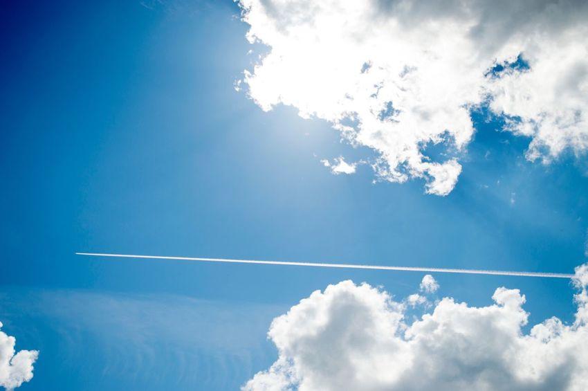 Sky Cloud Sky And Clouds Airplane