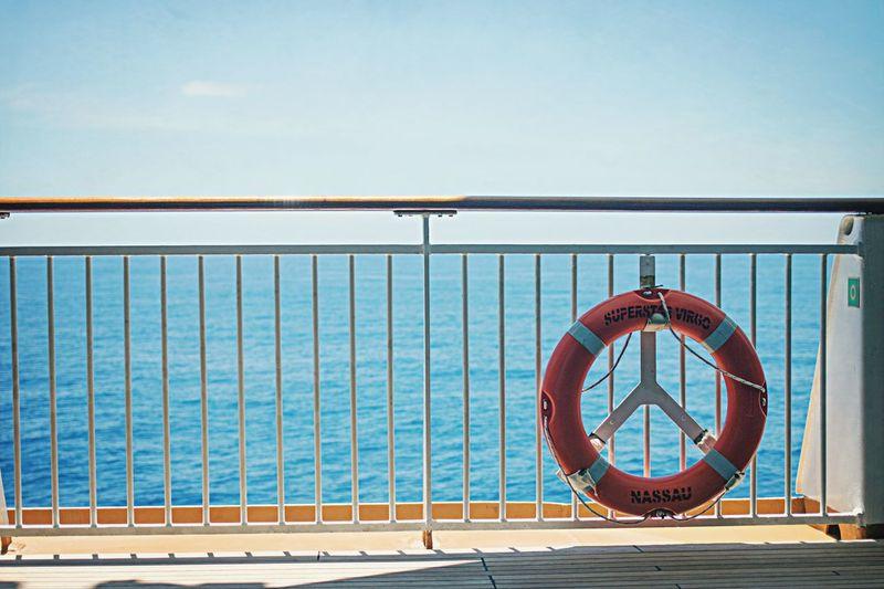 Lifebelt on boat