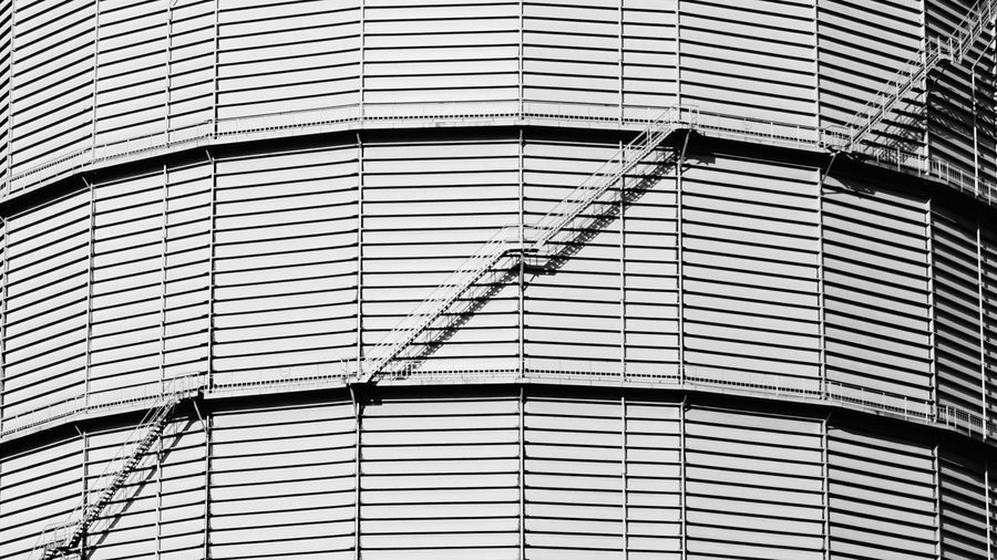 Gaskessel. Urban Urban Geometry Urban Landscape Industrial Energy Gas Gaskessel Industriekultur Industryporn Energie Black And White Black & White Taking Photos Exceptional Photographs Lines And Shapes Stairs