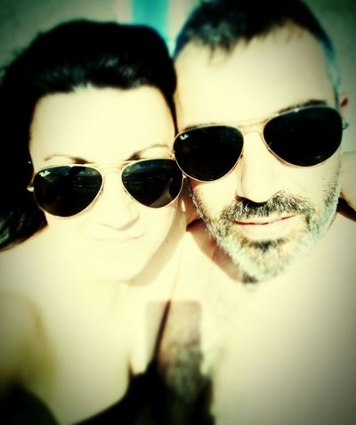 Beach Sole Spiaggia Amore Portrait Eyeglasses  Sunglasses Reflection Close-up