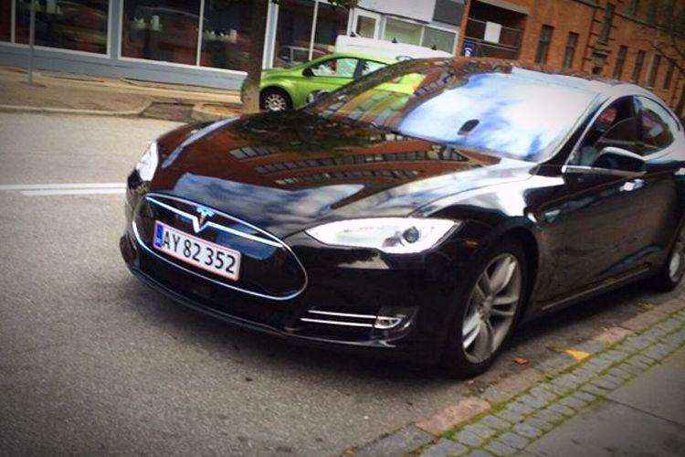Tesla Car Mode Of Transport Land Vehicle Road First Eyeem Photo