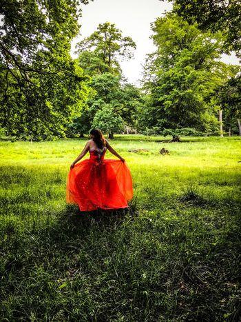 Photooftheday Photoshoot Photoshooting Model Red Dress Dress Red Princess Fantasy Nature EyeEmPaid Dreamcometrue Beautiful Girl Beautiful Girl Dyrehaven Klampenborg Bakken Denmark Photographer