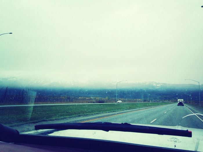 Snows coming. Snowing in the mountains.