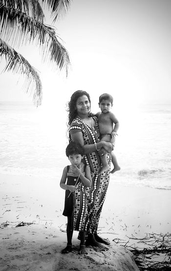 India Kerala Sea Life Motherhood In Nature Blackandwhite Mothers Love Kids_of_our_world