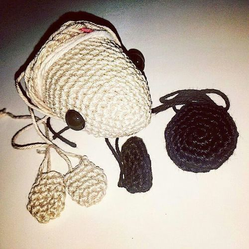 Work in progress! Do you know what this is going to be? Crotchet Amigurumi DIY Handmade Selfmate