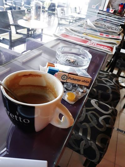 Lifeisgood Love ♥ Onemore Party Relaxafterwork Chilling Coffee - Drink Table High Angle View Coffee Cup Close-up Food And Drink