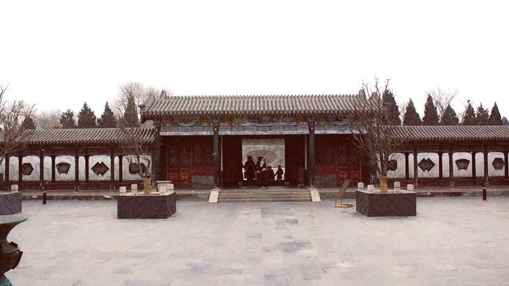 Ancient Architecture Architecture Beijing, China Building Exterior Built Structure Capital Letter Communication Day Entrance Nature No People Outdoors Sky Text Tree Western Script