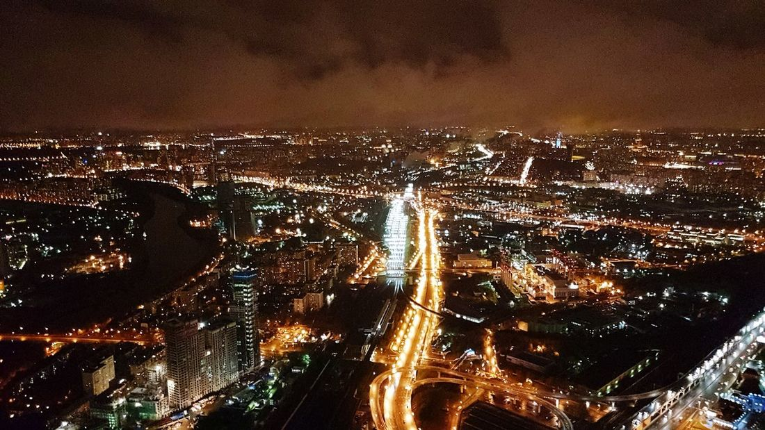 Mobility In Mega Cities Illuminated Night No People Outdoors Motion Building Exterior City Sky Architecture Commercial Airplane Cityscape Nature HUAWEI Photo Award: After Dark