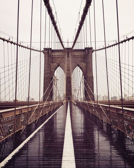 Brooklyn bridge Brooklyn Bridge / New York New York NYC Bridge - Man Made Structure Suspension Bridge Connection Engineering Architecture Built Structure Transportation Bridge Tourism Travel City Travel Destinations Footbridge No People