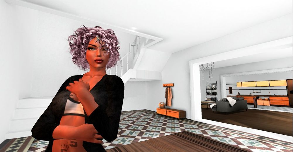 Bright Room Digital Art Indoors  London SL Secondlife Secondlifeavatar Sporty Fashion Sportygirl White Room Yoga Fashion Young Woman