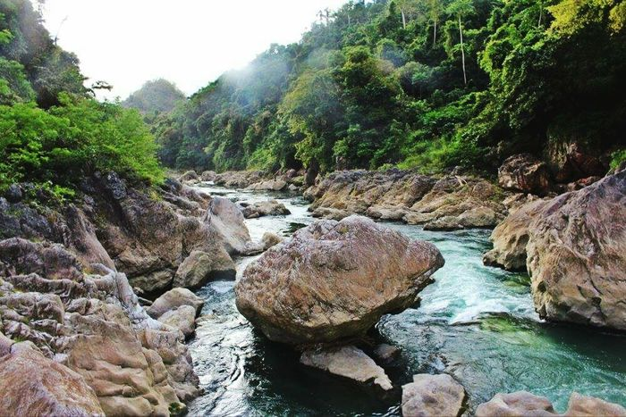 Enjoying the view at Tinipak river, Tanay Rizal, Philippines. Nature's Wonder River Travel Philippines