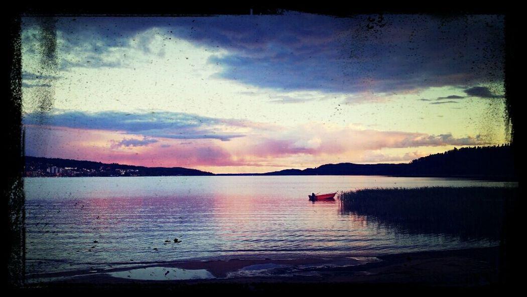 Calm! Sun Set Beautiful Nature Clouds And Sky