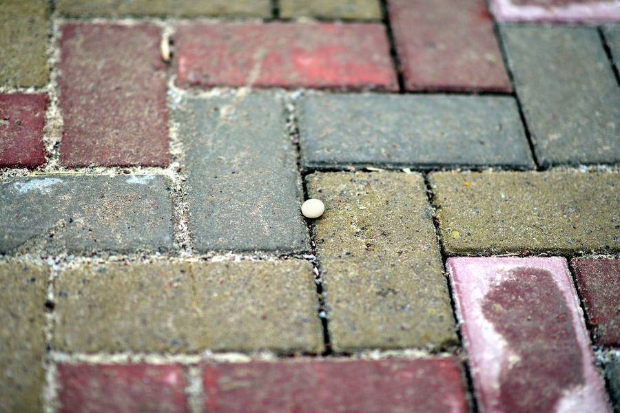 Got lost in a rectangular world City Day ELLIPSE Lost No People Outdoors Rectangular World Sidewalk Solitude Tiles