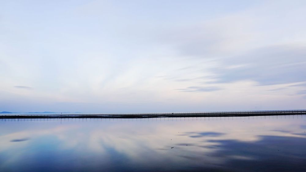 The Mirror Sea & Sky Water Nature Reflection No People Beauty In Nature Sky Outdoors Cloud - Sky Sea And Sky