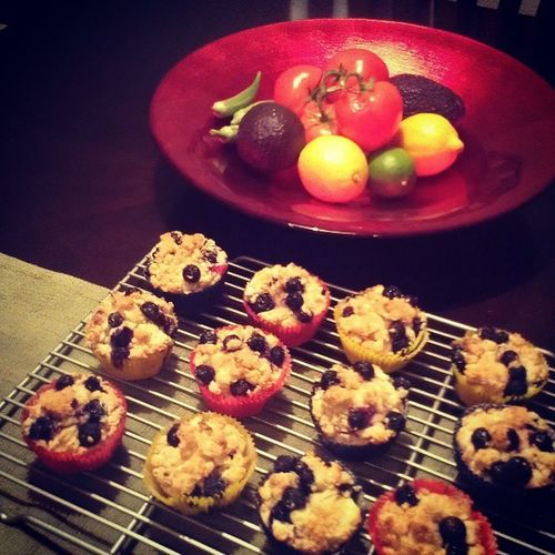 I never thought yogurt can work so well in a muffin batter. I like the crunchy turbinado sugar on top.The Pioneer Woman's Blueberry Muffin ReeDrummond Homemade