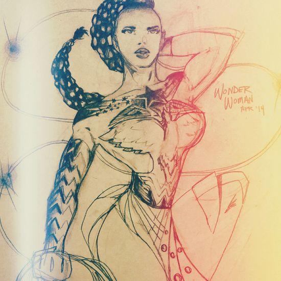 JLA Art Wonderwoman MyDrawing