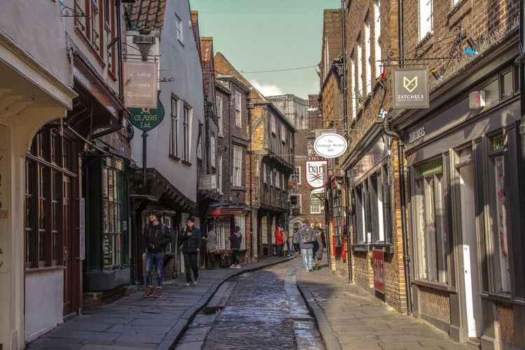 York - January 2017 Street Europe Britain Uk York Architecture Built Structure Building Exterior Large Group Of People Day Real People Outdoors