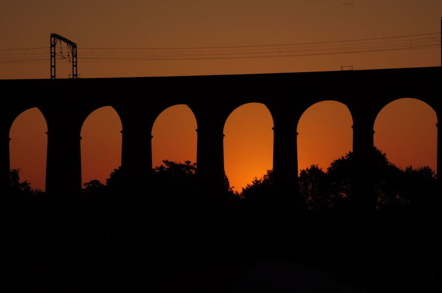 Digswell Viaduct at sunrise Arch Architecture Bridge - Man Made Structure Built Structure Silhouette Sunset First Eyeem Photo