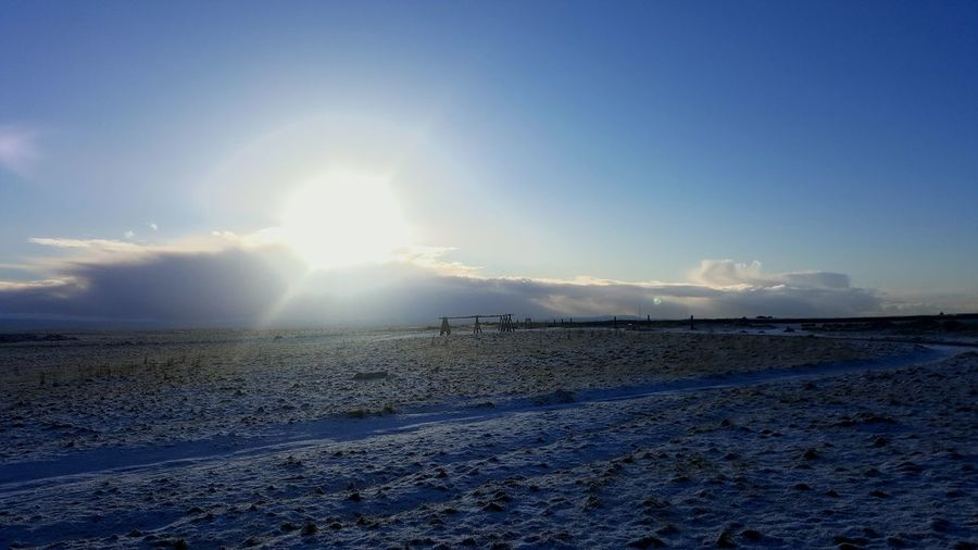 Sunlight Beauty In Nature Nature No People Sun Day Sky Iceland Outdoors Clear Sky Snow Cold Reykjavik