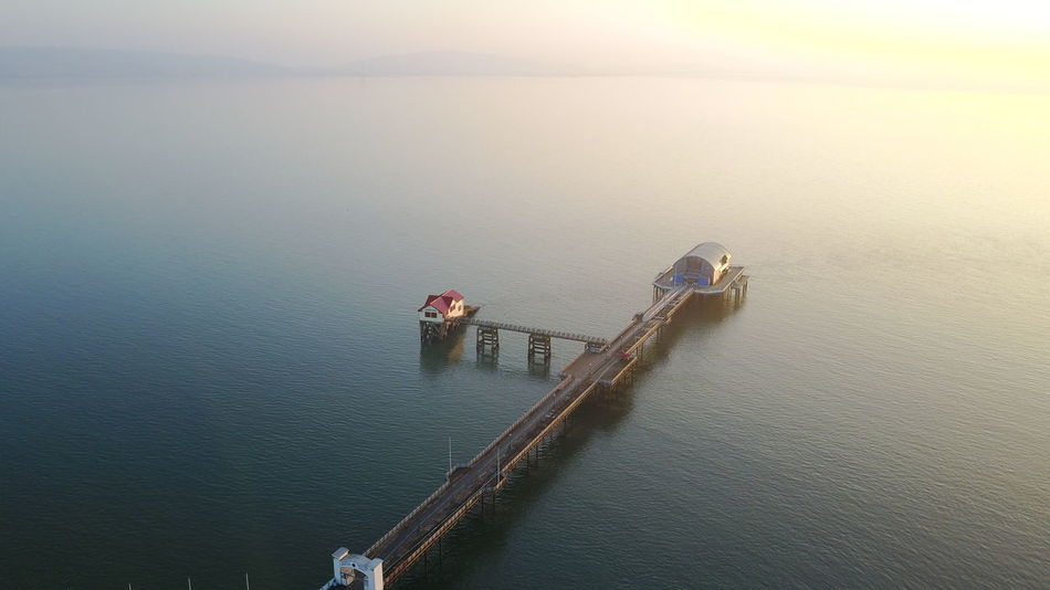 Water High Angle View Nautical Vessel Sea Sunrise Nature Outdoors Tranquil Scene Sea Seascape Sea View Wake - Water No People Lifeboat Station... Droneshot Dronephotography Sunset Nature Outdoors Tranquil Scene Beauty In Nature Day Peace And Quiet Tranquility Wales