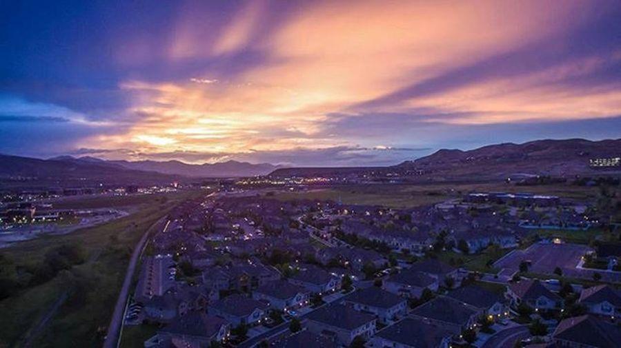 Mountaincrushmonday The sunset casting long shadows across the valley. Dreamsofspring Sunsets Dronestagram Aerialview Utah Visitutahvalley Visitutah . UtahisRad
