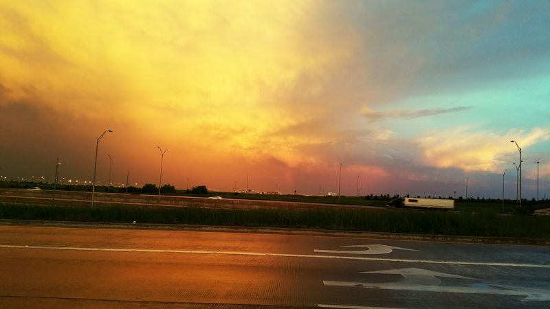 Sky Dallas Tx Dfw Airport Stormy