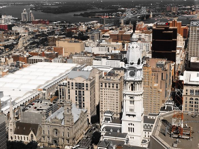 Philadelphia City Hall Tower Philadelphia Skyline Building Exterior Architecture Built Structure City High Angle View Crowd Building Cityscape City Life Travel Destinations