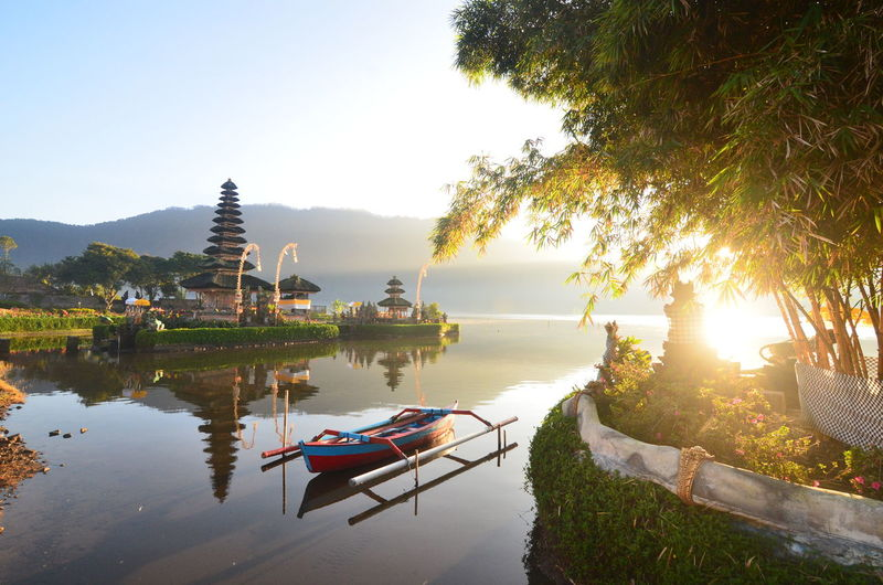 Agus_harianto_photography Agushariantophotography Architecture Arrival Cultures Kayak Lake Landscape Morning Nautical Vessel No People Outdoors Pagoda Place Of Worship Reflection Religion Sunset Tourism Tranquility Travel Travel Destinations Tree Ulun Danu Temple Vacations Water