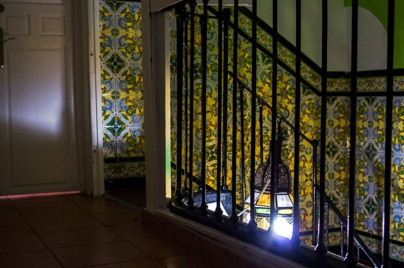 Arabic Tiles Illuminated Lamp Lantern Moorish Ornament Stairs Tiles