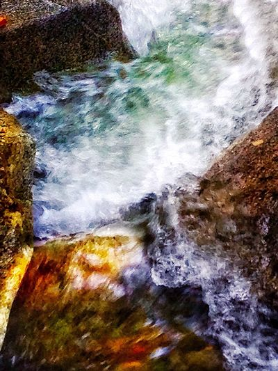 Close-up Beauty In Nature Stones Rock - Object Rock Formation From My Point Of View Waterfalllovers Mountains And Valleys Abstract Photography Flowing Motion Blur Water Natural Beauty The Great Outdoors - 2016 EyeEm Awards Eye Em Around The World Stream Nature_perfection Excersice Your Mind Upahead A Glass Of Lemonade Waterfall #water #landscape #nature #beautiful I LoveJapan InKaratsu