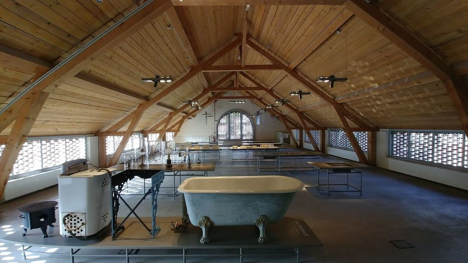 Familistere Jean-Baptiste André Godin Utility Room Utopia Architecture Buanderie Day Heritage Building Indoors  No People