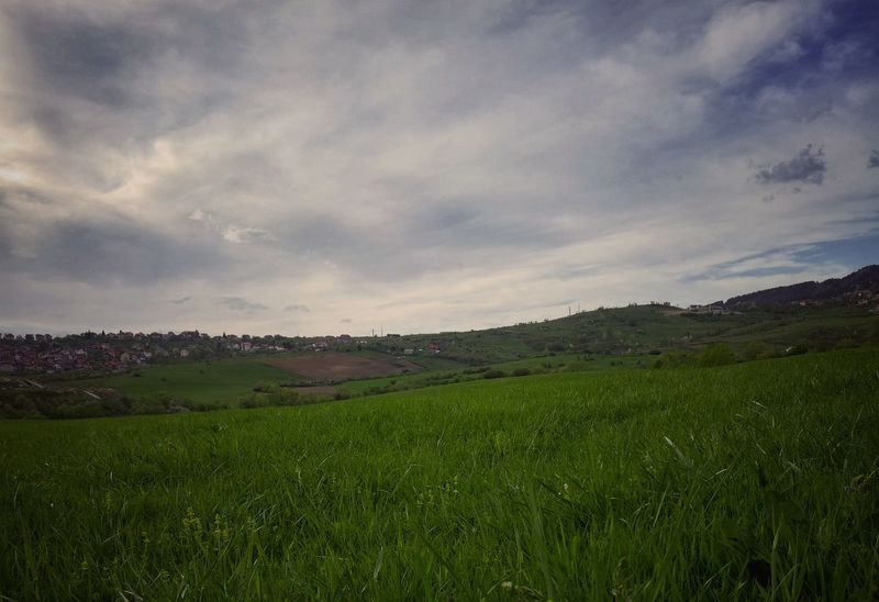 Spring Grass Hill Field Sky Clouds Horizon Horizon Over Land Livada Nebo Polje Green Cover Background LG G3
