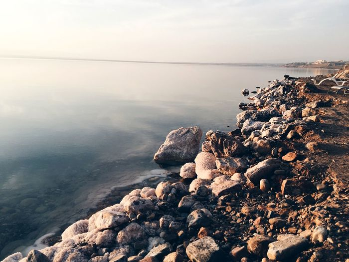 Deadsea VSCO Landscape #Nature #photography Salt Lake Nolife Water Sea Beach Beauty In Nature Rock No People Tranquility Sunlight