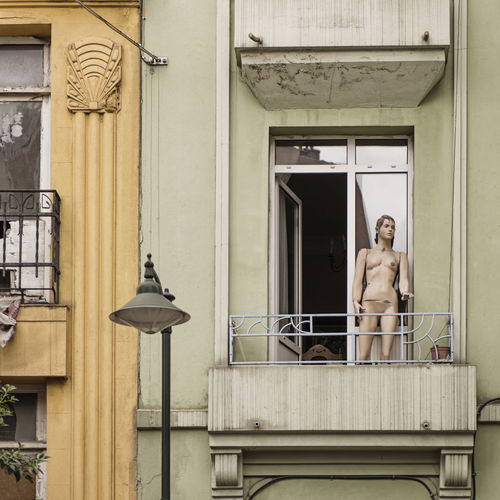 Balcony Day Domestic Life Manequin No People Outdoors Undressed Window
