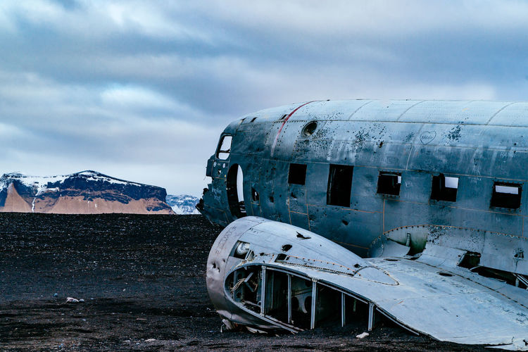 Abandoned Architecture Building Exterior Built Structure Car Cloud Cloud - Sky Cloudy Cold Temperature Day Iceland Island Land Vehicle Mode Of Transport No People Outdoors Season  Sky Snow Transportation Weather Winter