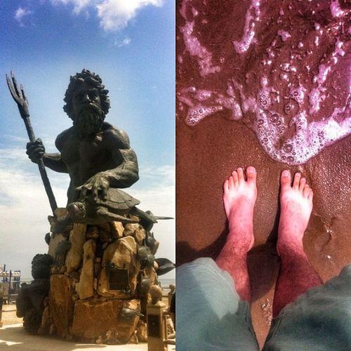 Always feels like home no matter what beach's water I put my toes in... Neptune Va Beach