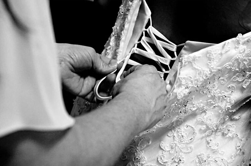 EyeEm Selects Wedding Close-up Wedding Photography Real People Bride Wedding Dress Mom With Daughter Special Moment Lace Austin Texas Blackandwhite Photography Blackandwhite Texas Photographer